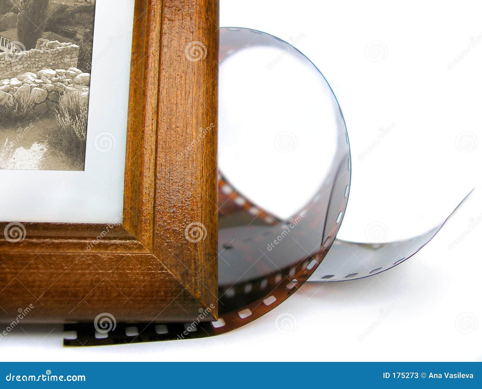 Angolo del blocco per grafici della foto e nastro della foto