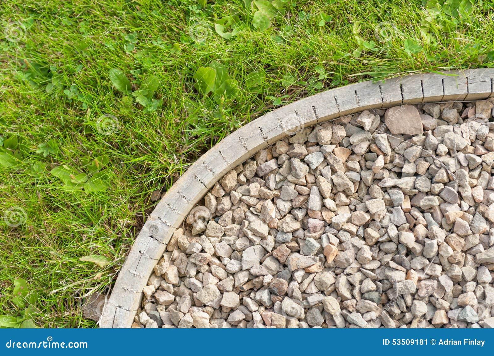 Angolo del percorso del giardino della ghiaia dettaglio - Ghiaia x giardino ...