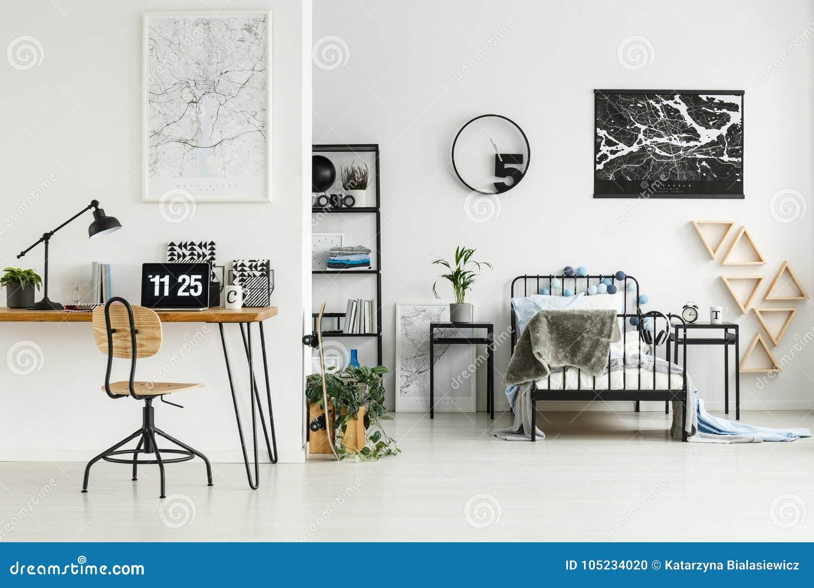 Angolo Di Studio In Camera Da Letto Fotografia Stock ...