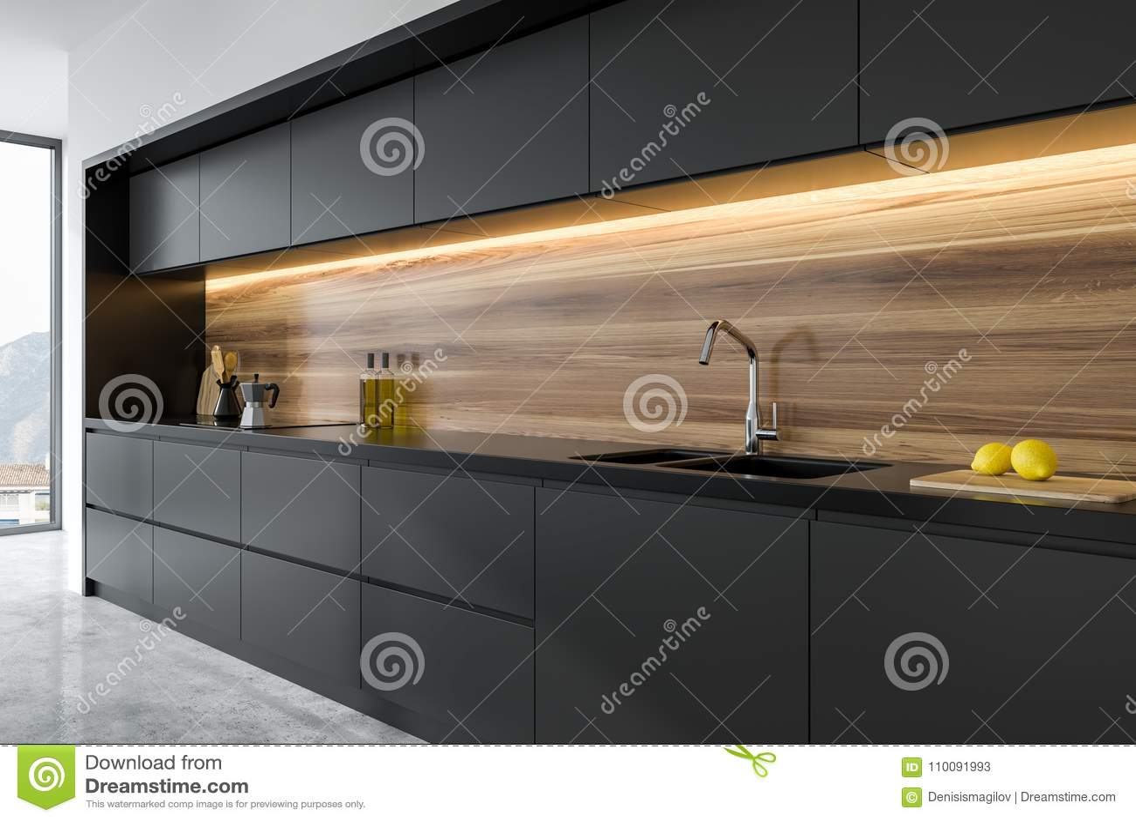 Cucina Legno Bianco E Nero Legno O Effetto Legno In Cucina Si Usa
