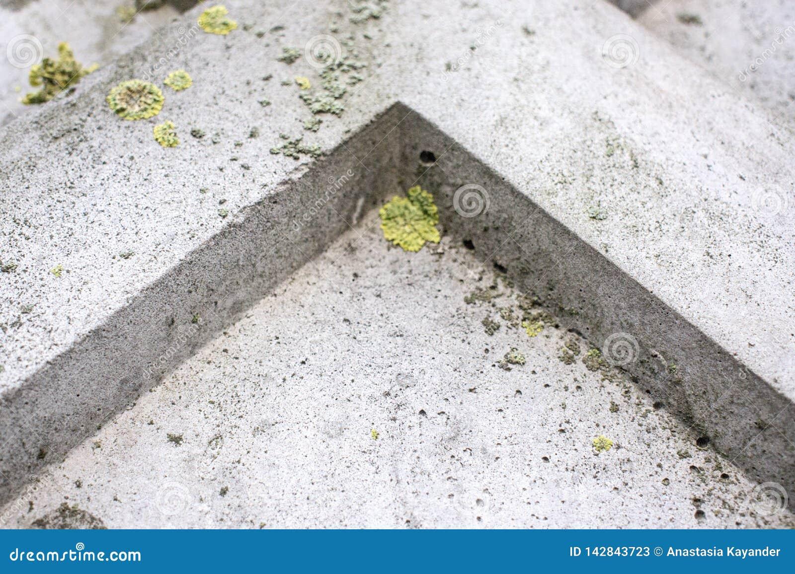 Angolo su fondo Fondo geometrico astratto del calcestruzzo