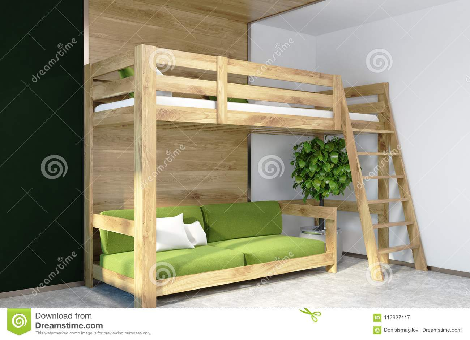 Parete Camera Da Letto Verde : Angolo verde scuro della camera da letto della parete letto verde
