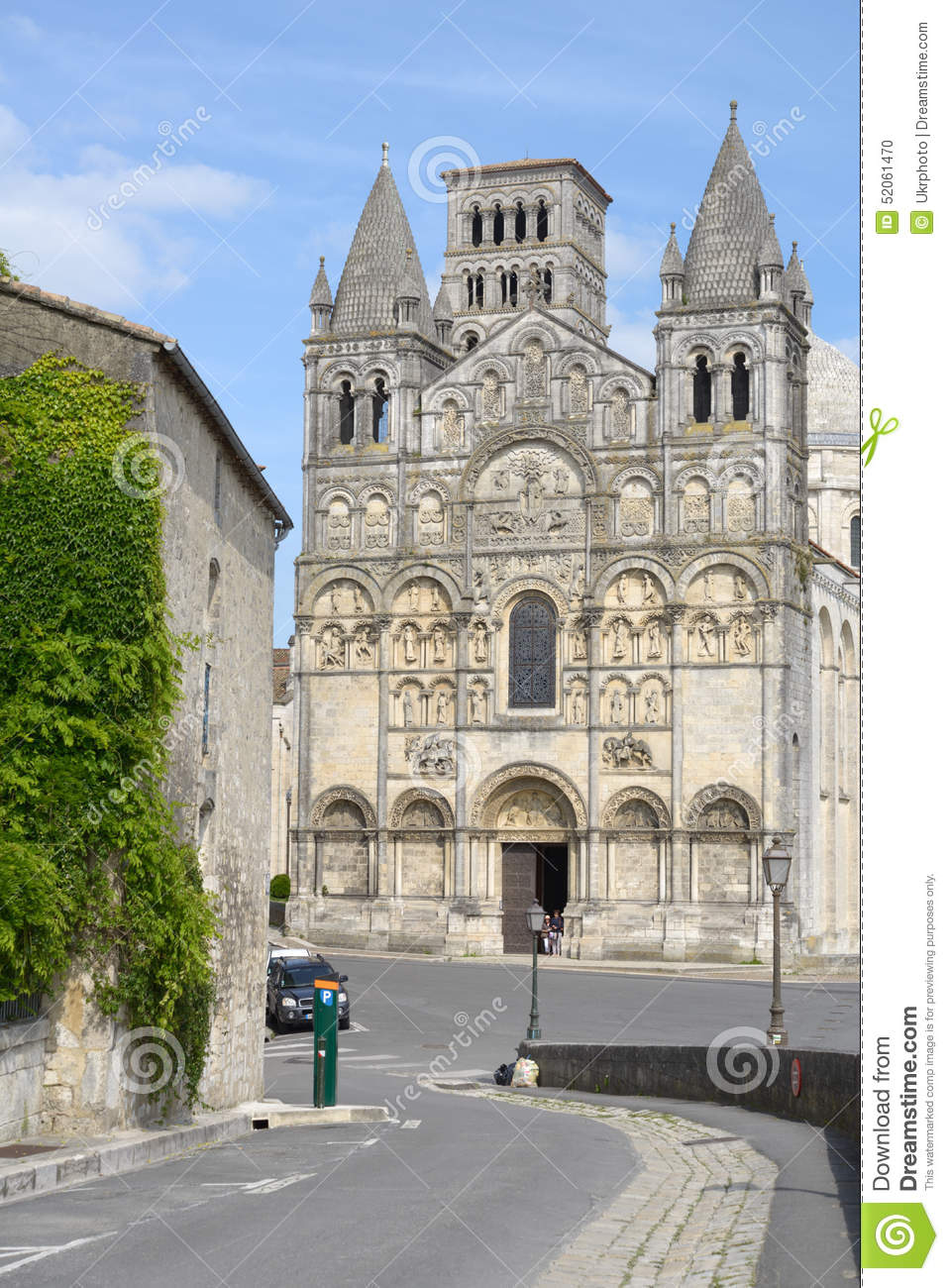 Angouleme Cathedral Editorial Image Image Of Destination