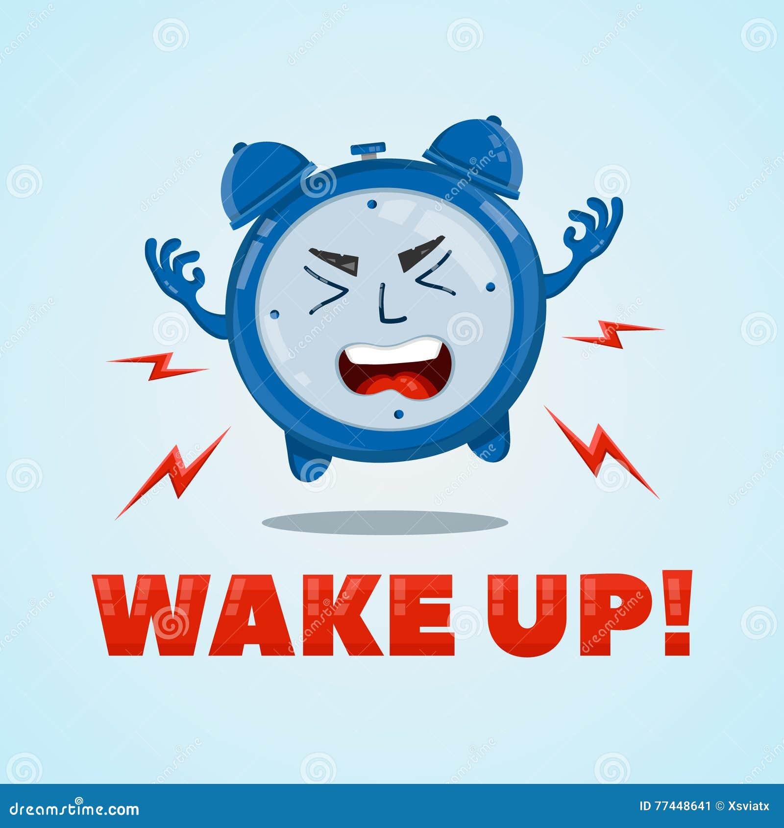 wakeup clock cartoon