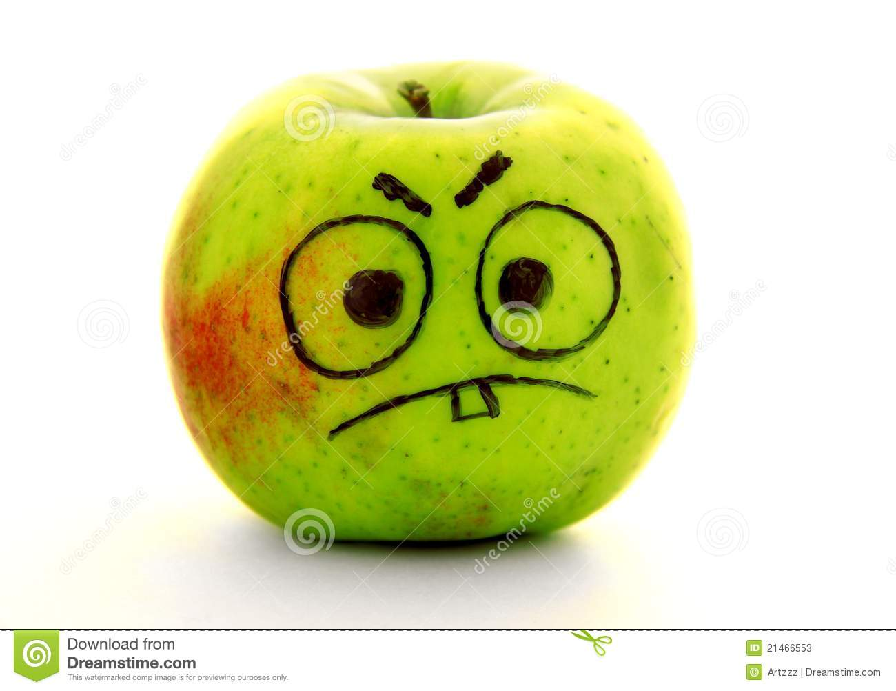 angry apple stock photos   image 21466553
