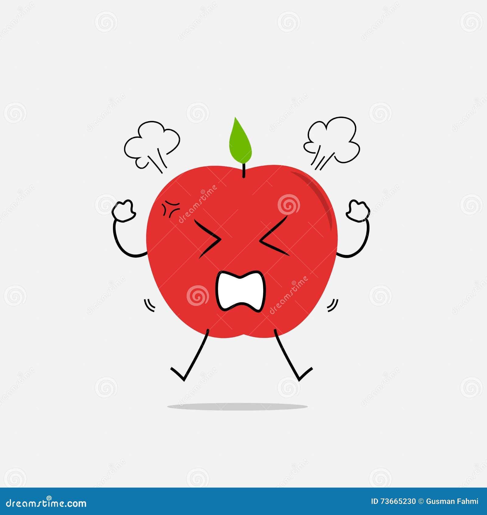 angry apple simple clean cartoon illustration stock vector image angry apple simple clean cartoon illustration
