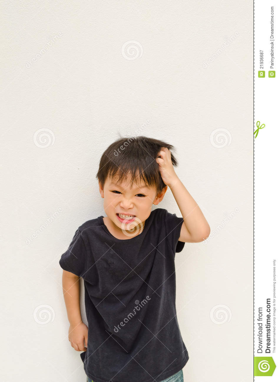 angry asian boy