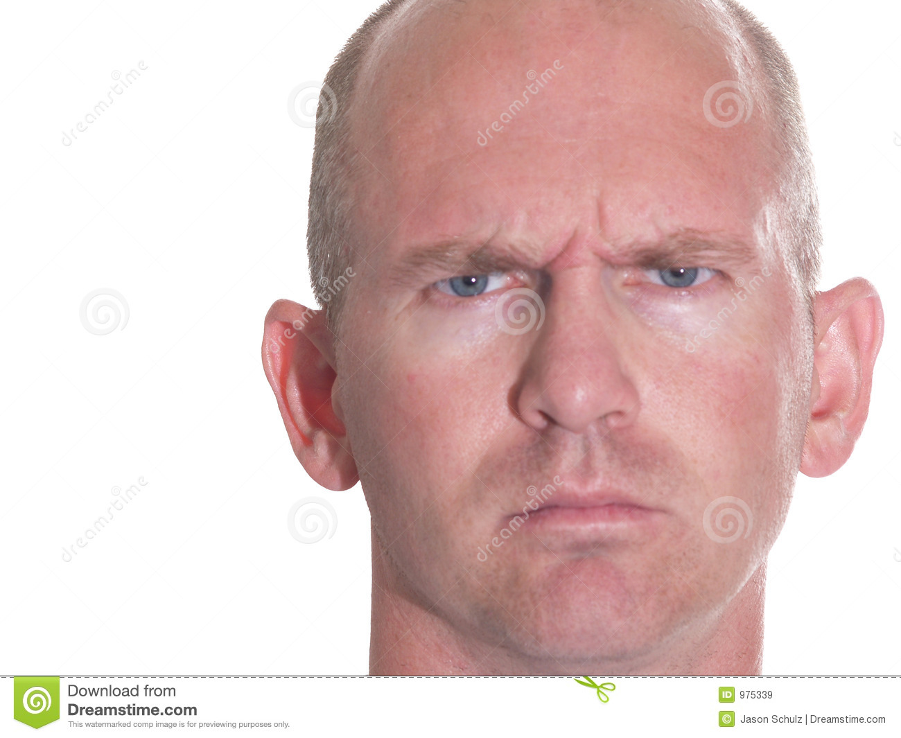 The Angry Bald Guy 2 Royalty Free Stock Images Image 975339