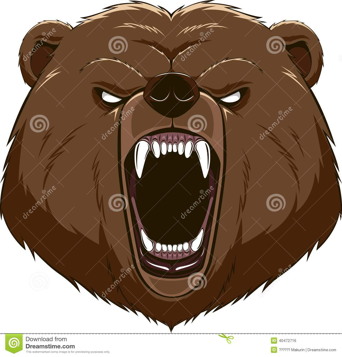 Six Nky Schools To Launch 3d Printer Clubs: Angry Bear Head Mascot Stock Vector