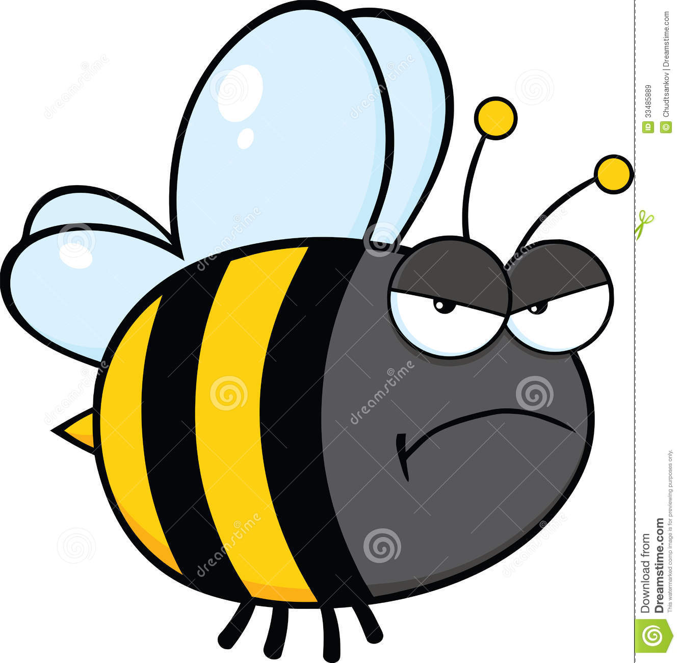 angry bee cartoon character royalty free stock images image