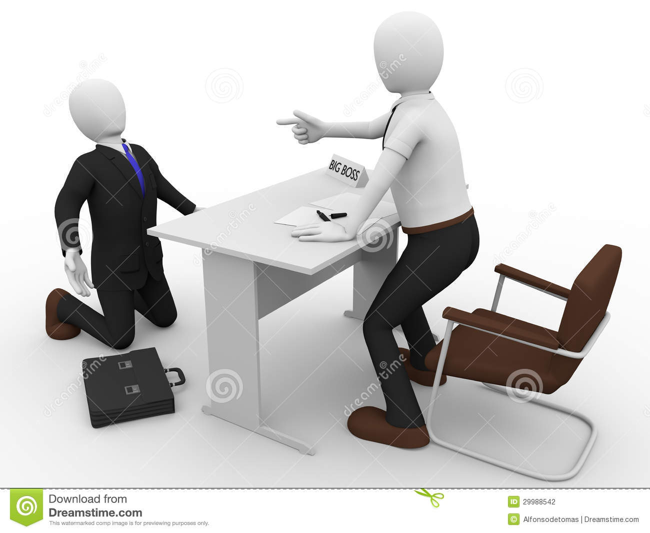 Scolding Boss Stock Photography - Image: 29988542