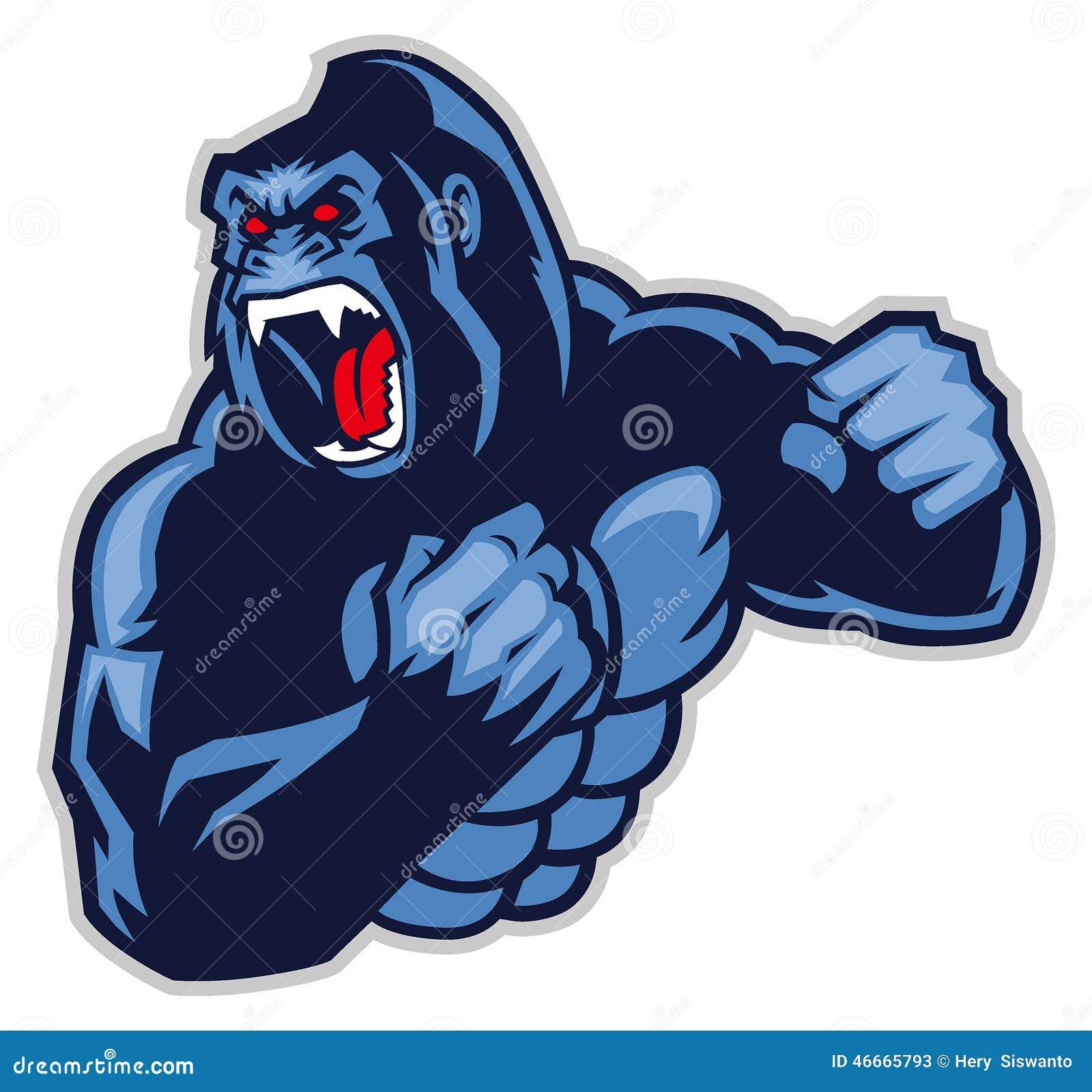 Angry Big Gorilla Stock Vector Image 46665793