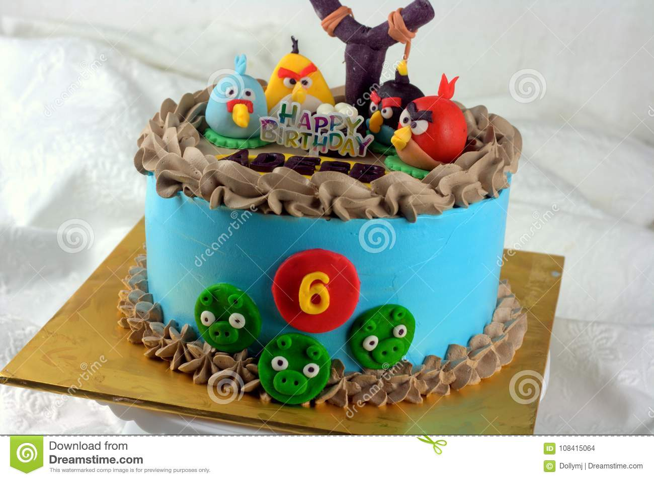 Groovy Angry Bird Cake Editorial Stock Image Image Of Created 108415064 Birthday Cards Printable Trancafe Filternl