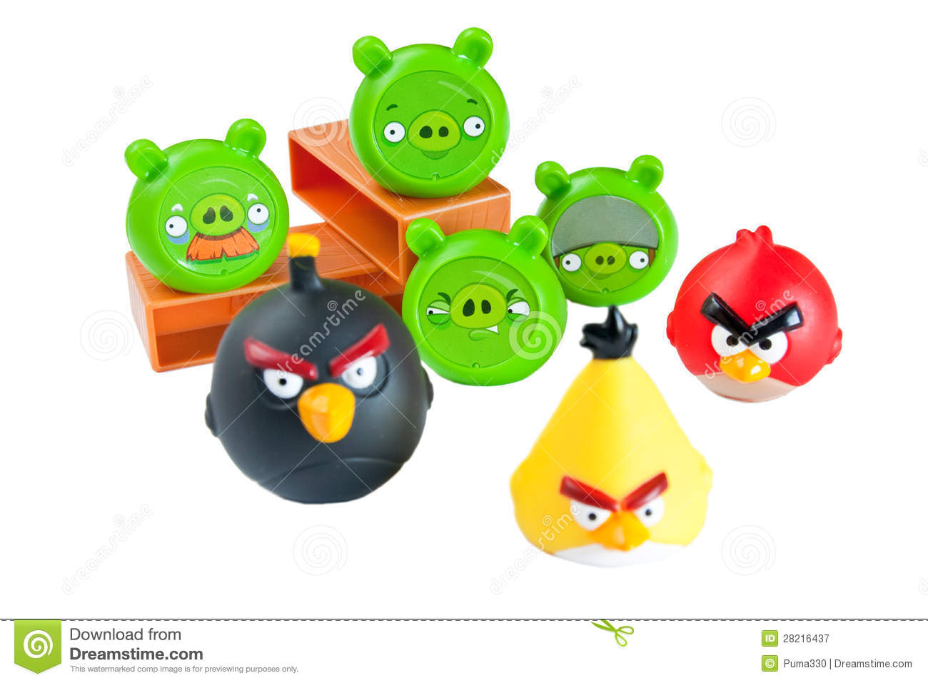 Angry Birds Playing Card Deck And Vector Characters: Angry Birds Editorial Photography