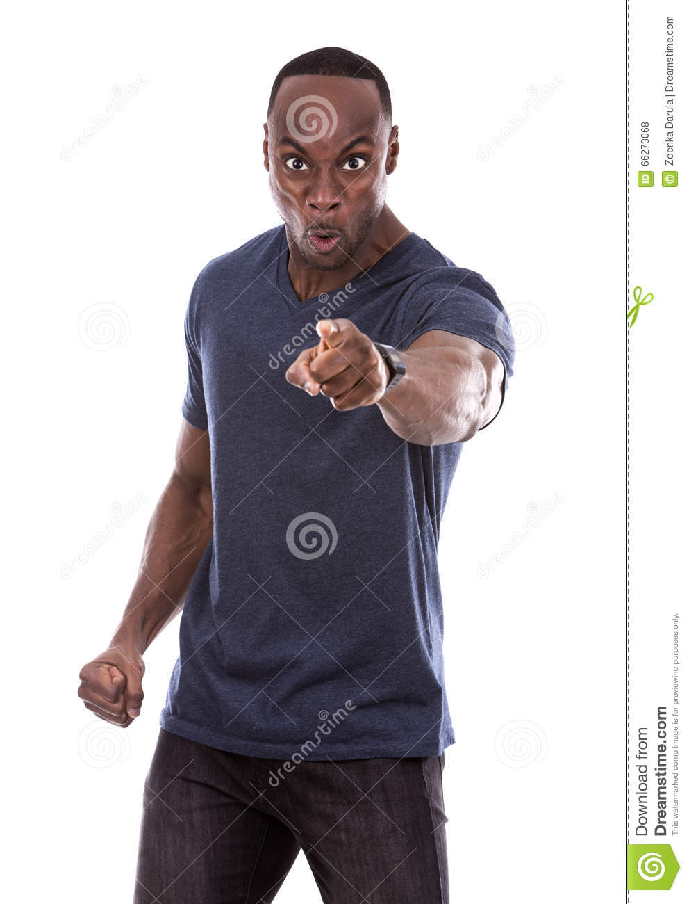Angry black man stock photo. Image of casual, fighter ...