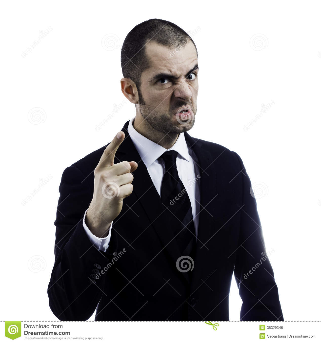 Angry boss stock photo. Image of company, hand, leader ...