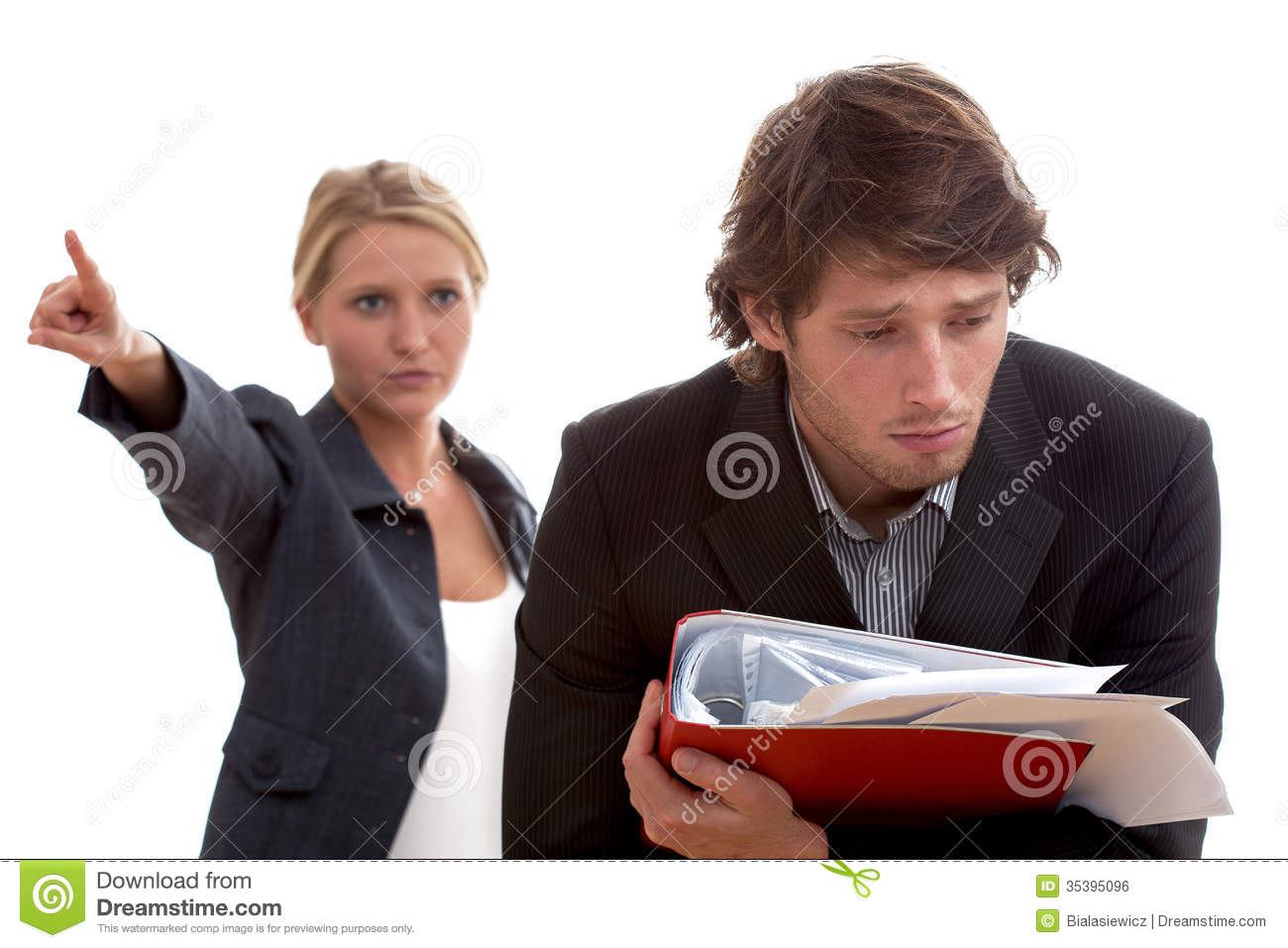 Angry Boss And Poor Worker Royalty Free Stock Image ...