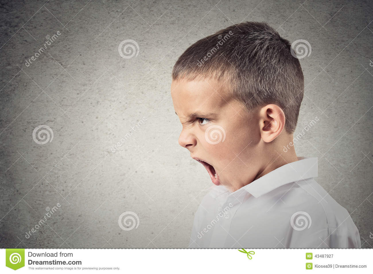 Angry Boy Screaming Stock Photo - Image: 43487927