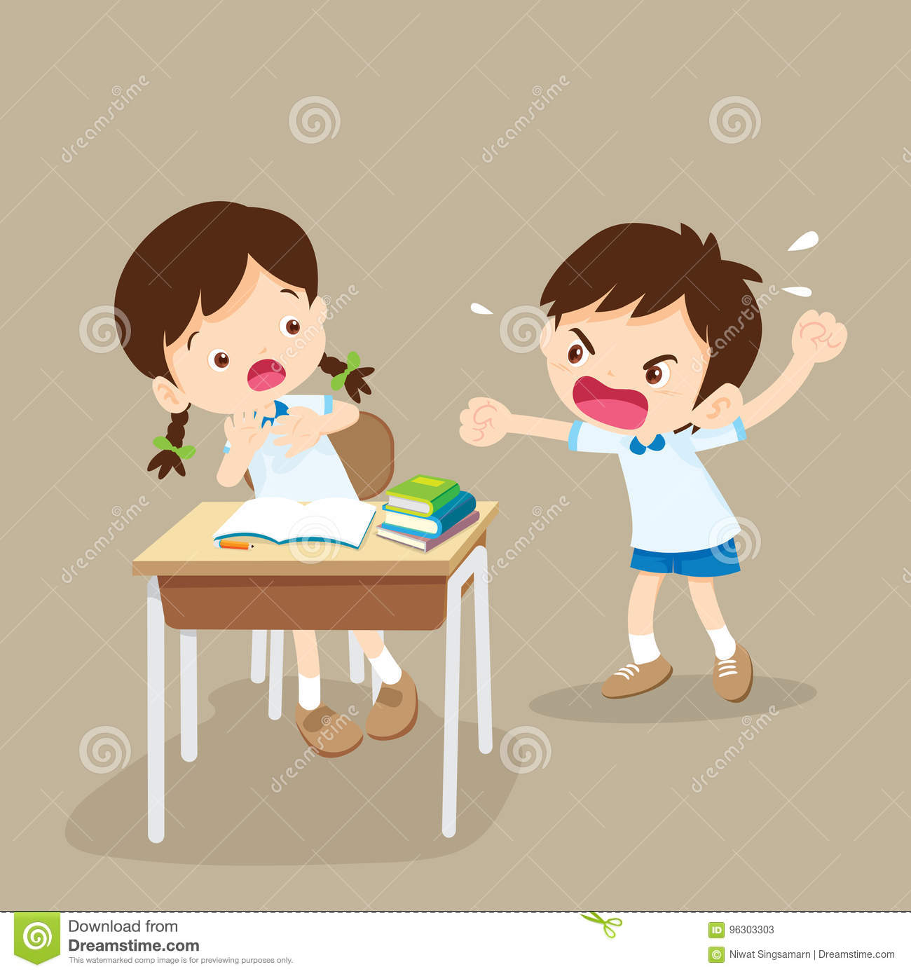 Angry Boy Shouting At Friend Stock Vector - Illustration ...