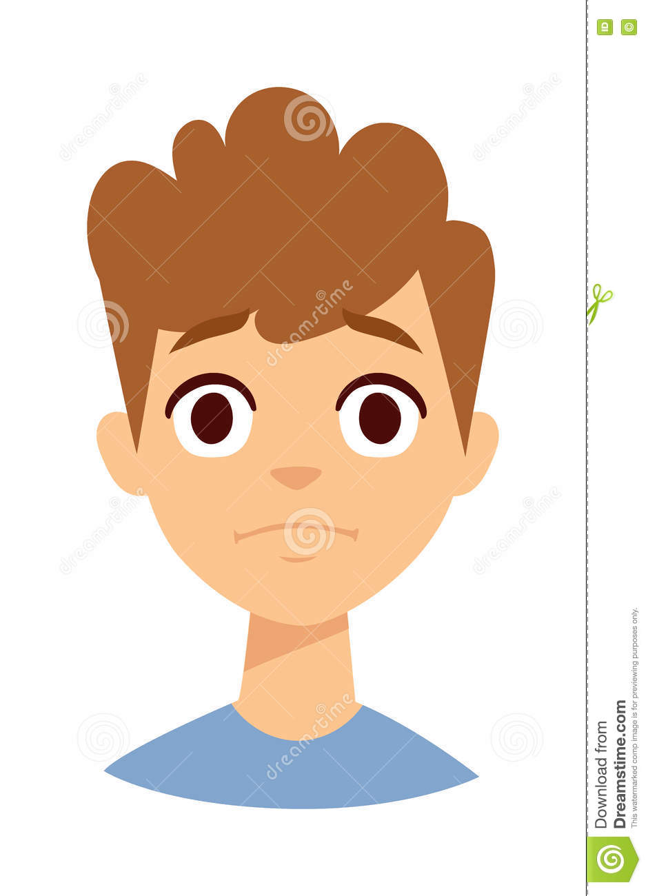 Angry Boy Vector Illustration. Stock Vector - Image: 71848595