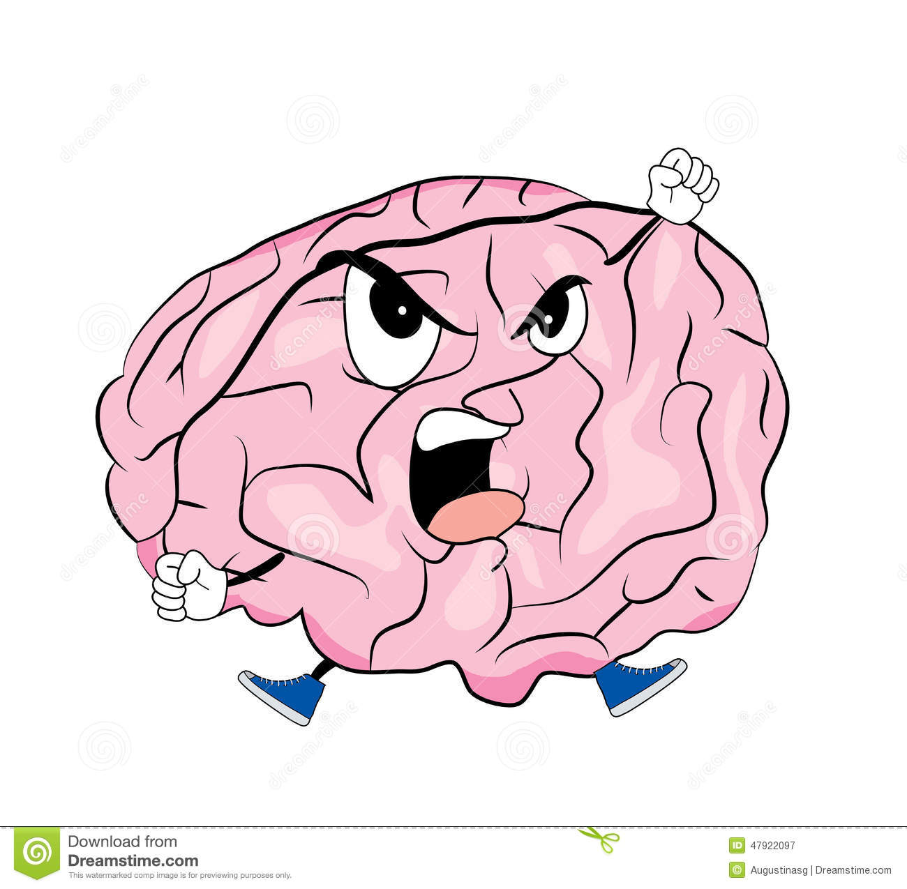 Angry Brain Clipart Stock Vector - Image: 77004496