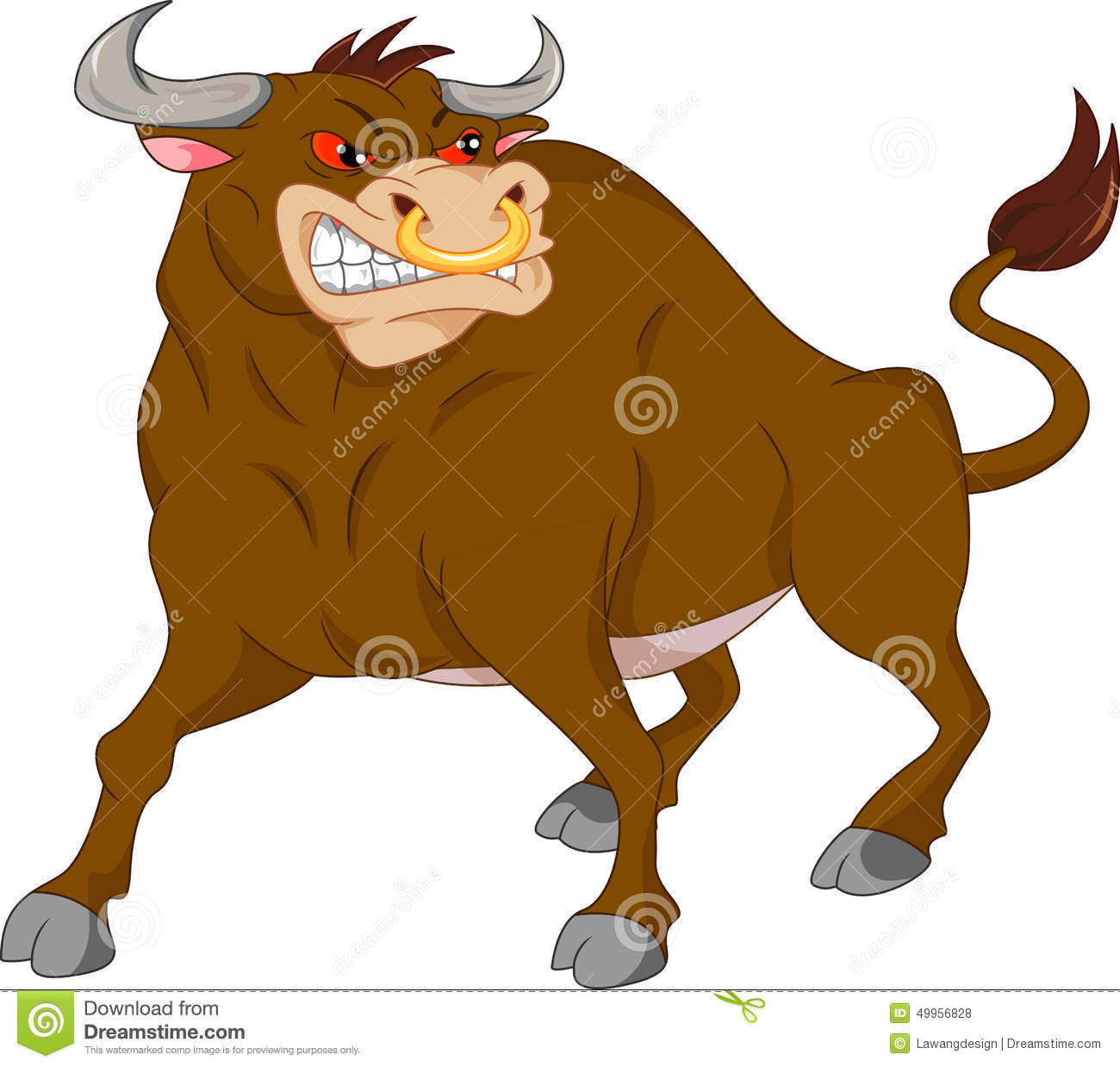 Angry Bull Cartoon Stock Vector - Image: 49956828
