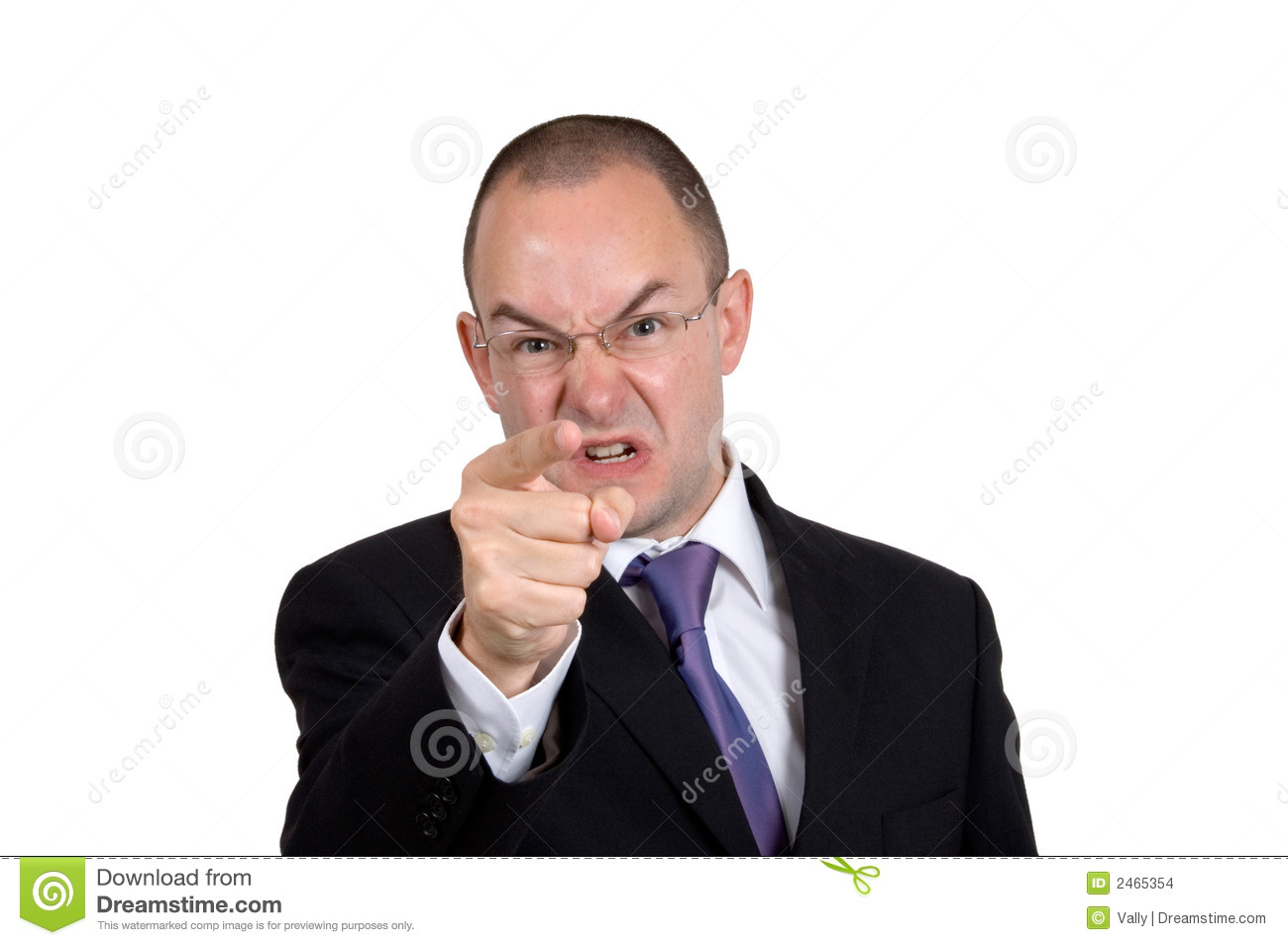 Angry Businessman Stock Images - Image: 2465354