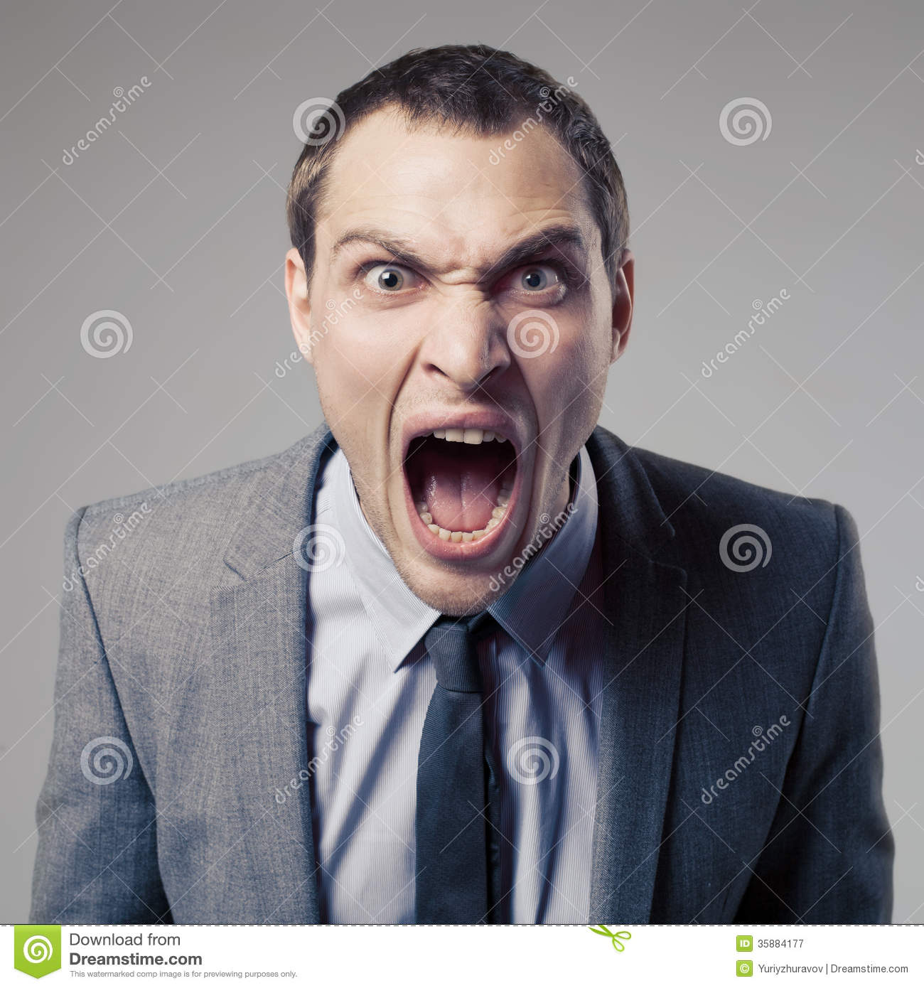 Angry Businessman Screaming Royalty Free Stock Photography ...