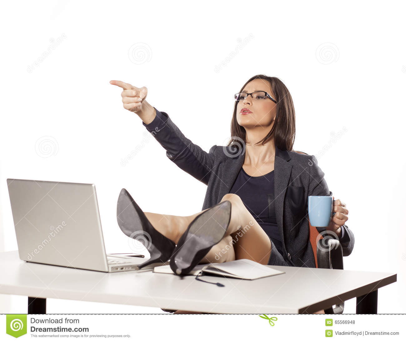 angry businesswoman stock photo image of laptop desk