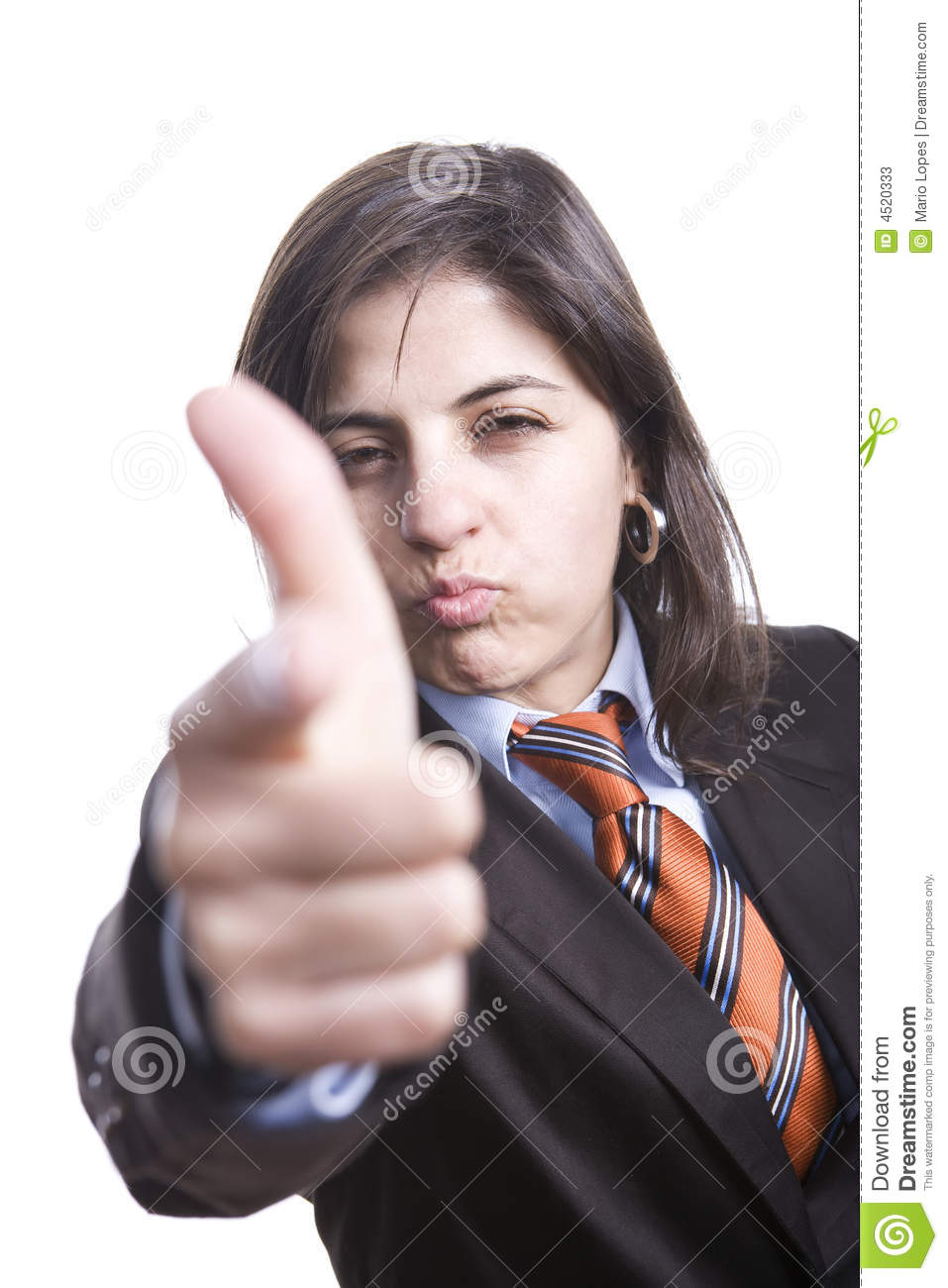 Angry Businesswoman Pointing Stock Photos - Image: 4520333