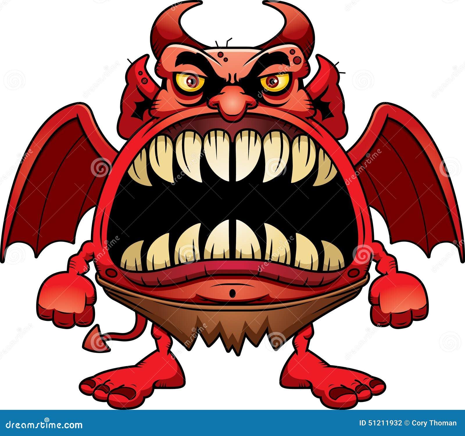 angry cartoon devil stock vector illustration of cartoon 51211932 rh dreamstime com