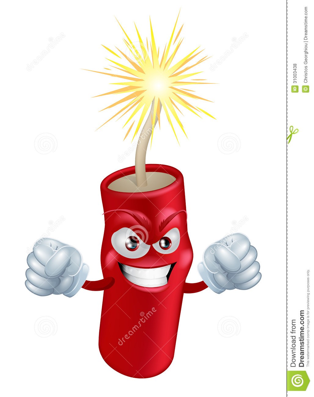 Angry Cartoon Firecracker Royalty Free Stock Photos - Image: 31003438