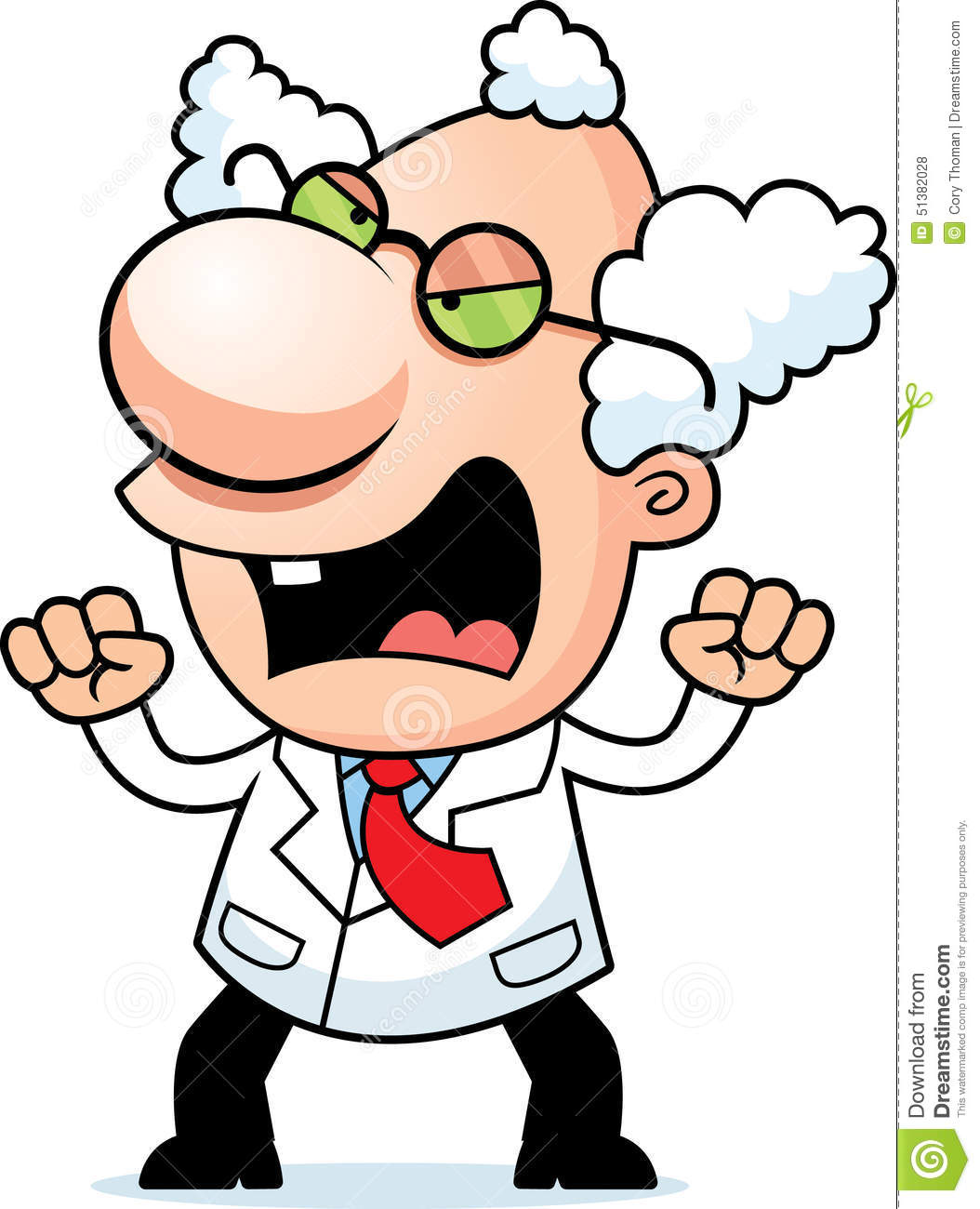Angry Cartoon Mad Scientist Stock Vector - Image: 51382028