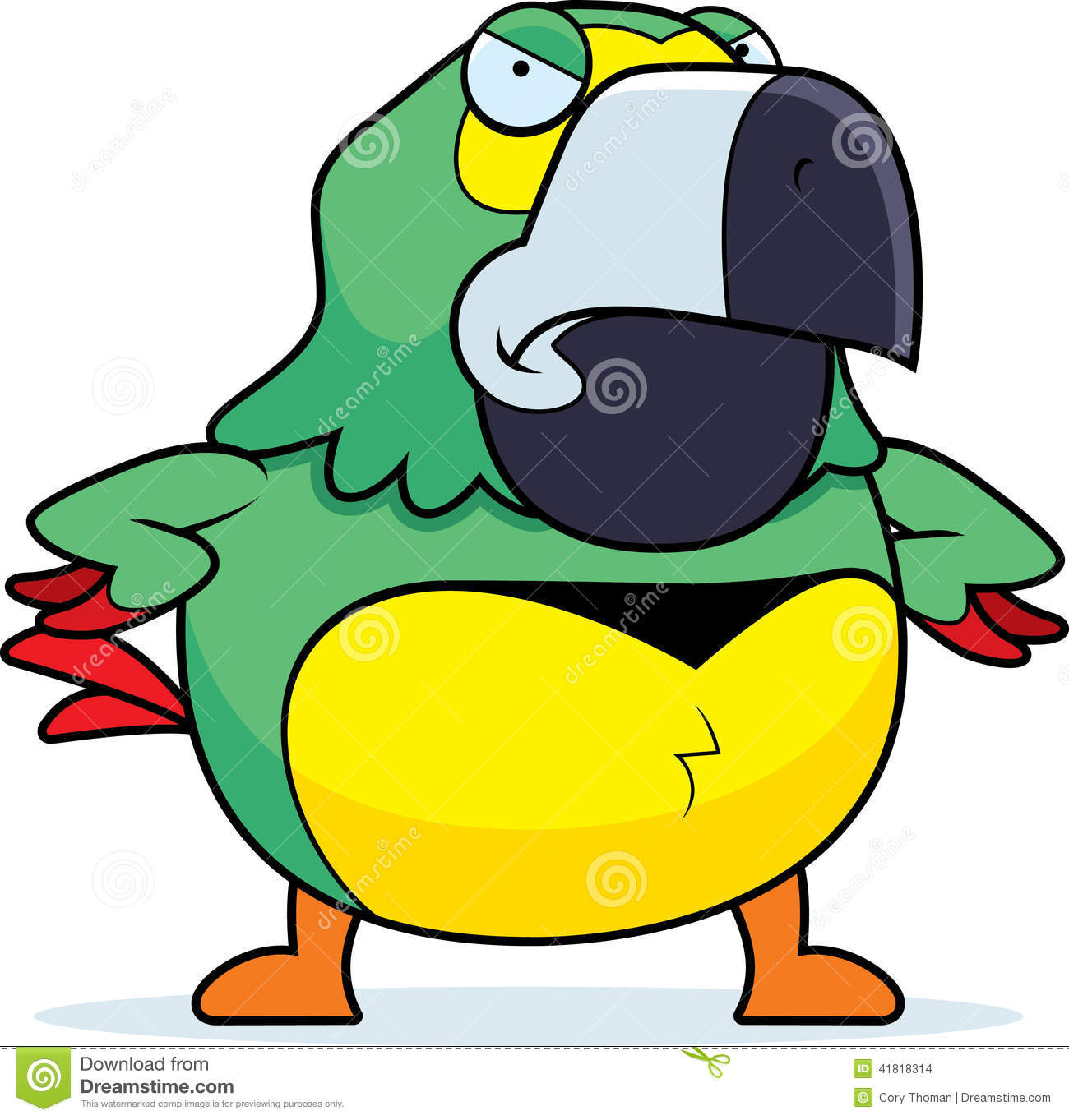 Angry Cartoon Parrot Stock Vector - Image: 41818314