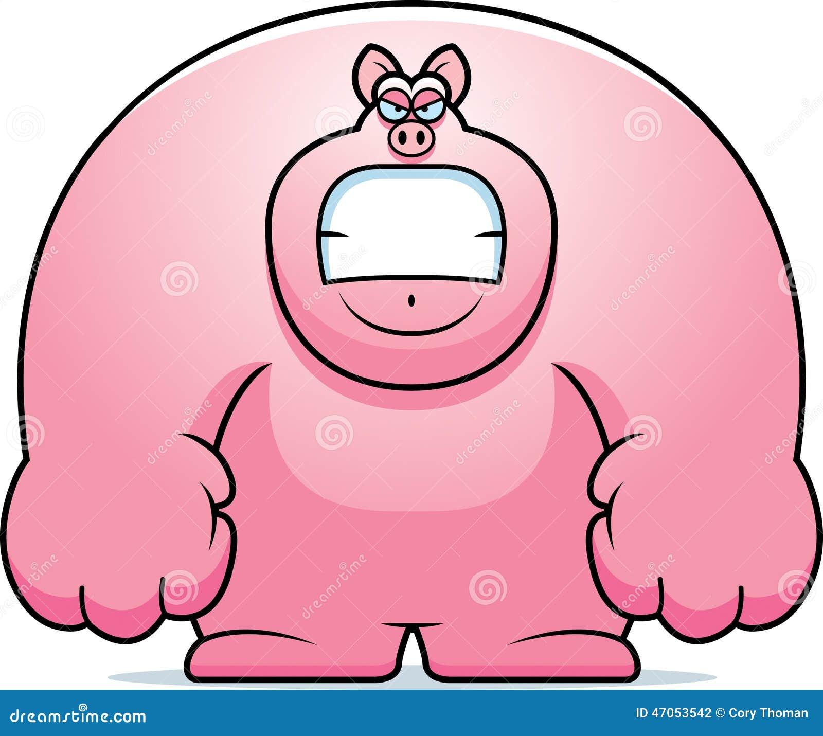 Angry Cartoon Pig Stock Vector - Image: 47053542