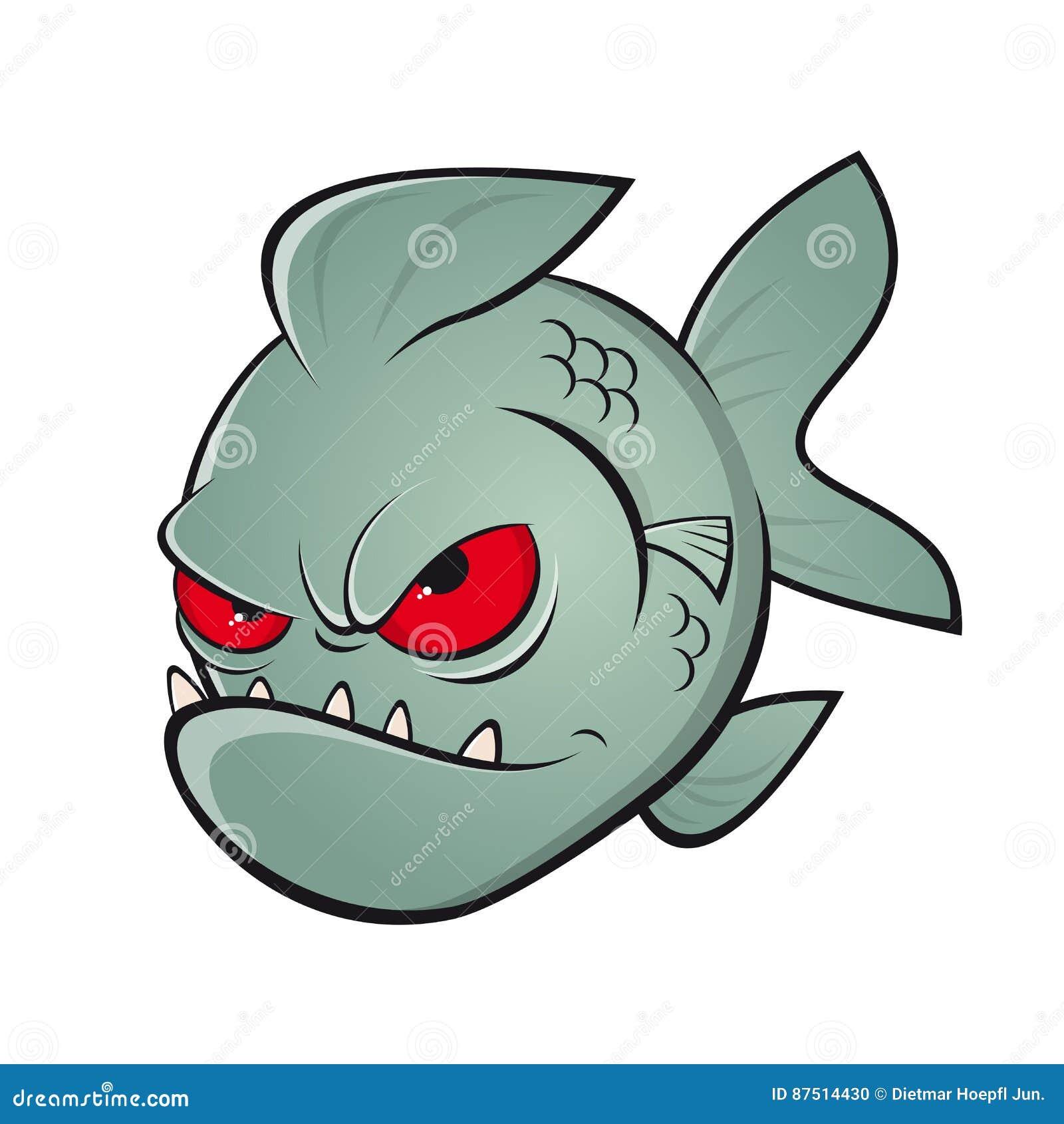 angry cartoon piranha stock vector illustration of dangerous 87514430 rh dreamstime com piranha plant clipart Printable Pictures of Piranhas