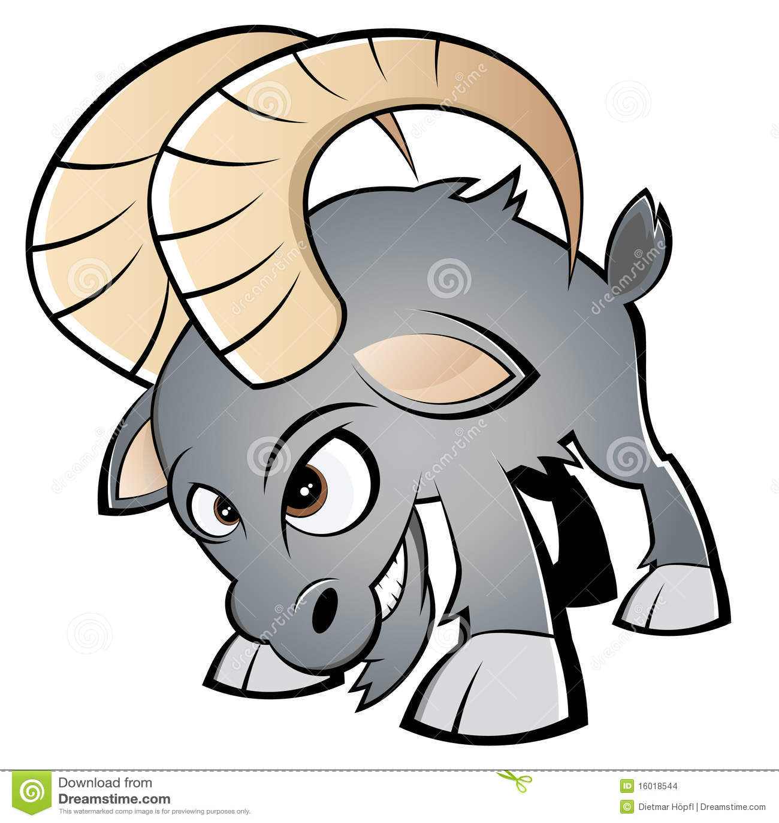 Angry cartoon ram