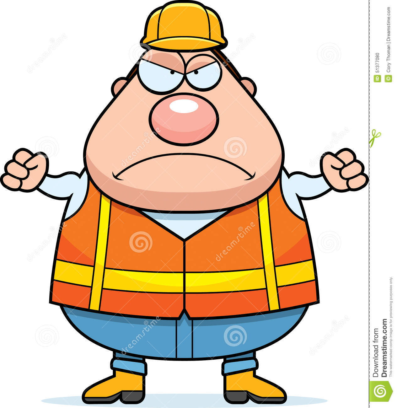 angry cartoon road worker stock vector image 51377080 policeman clip art free policeman clipart svg