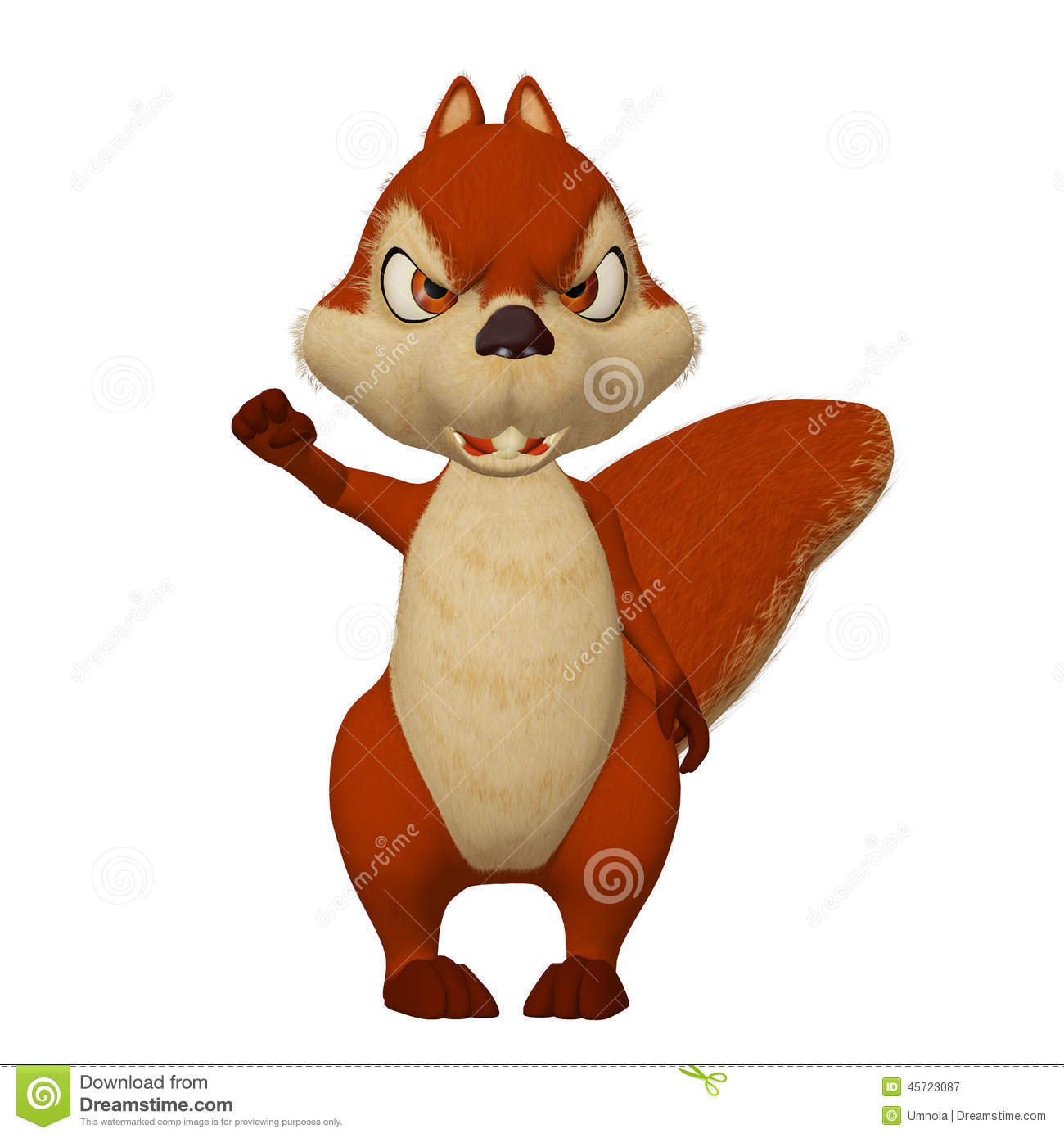 Angry Cartoon Squirrel Stock Illustration - Image: 45723087