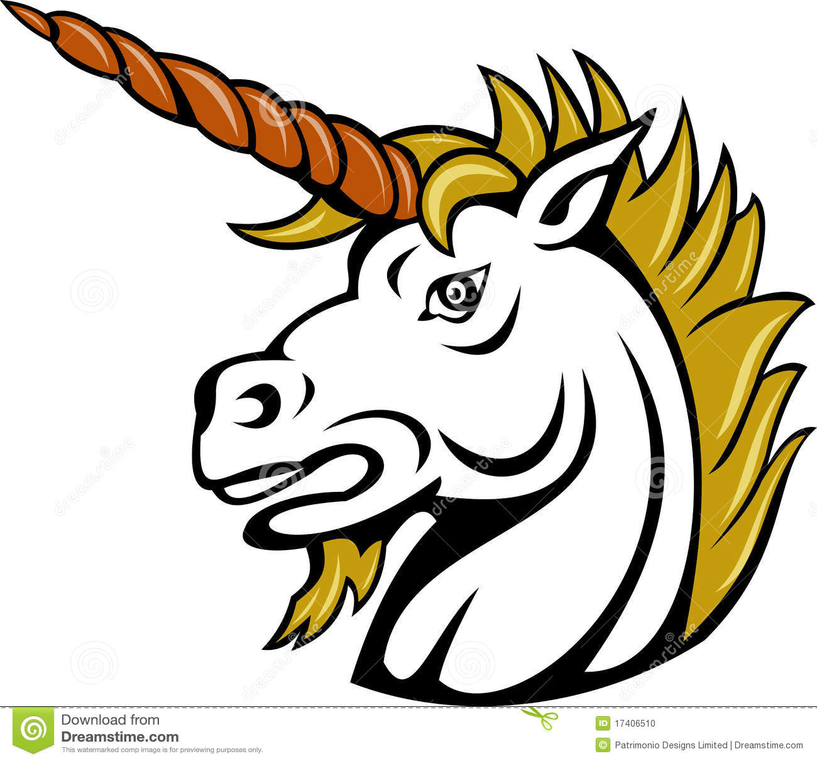 angry cartoon unicorn horse stock photo image 17406510
