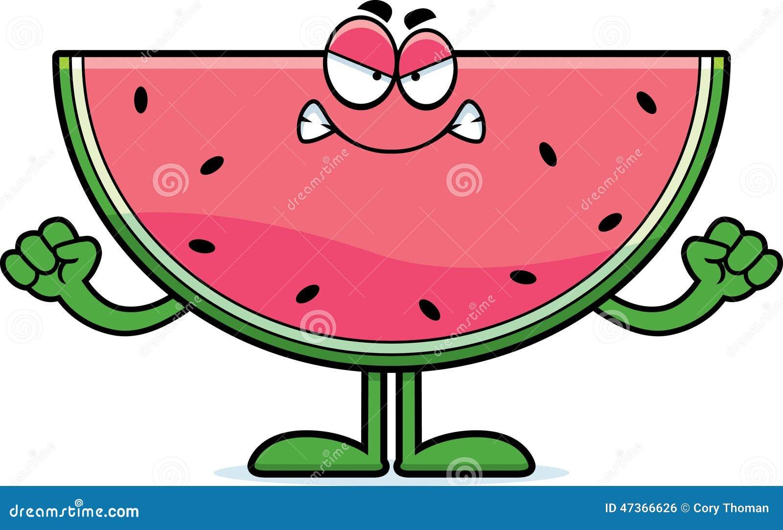 Watermelon Cartoon Images Angry Cartoon Watermelon