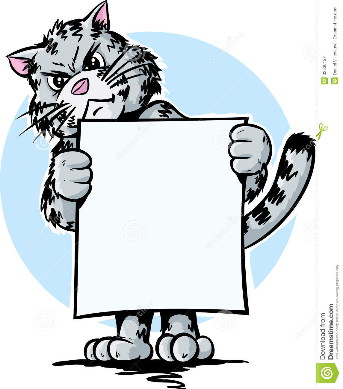 Angry cat stock vector. Illustration of sign, cartoon ...