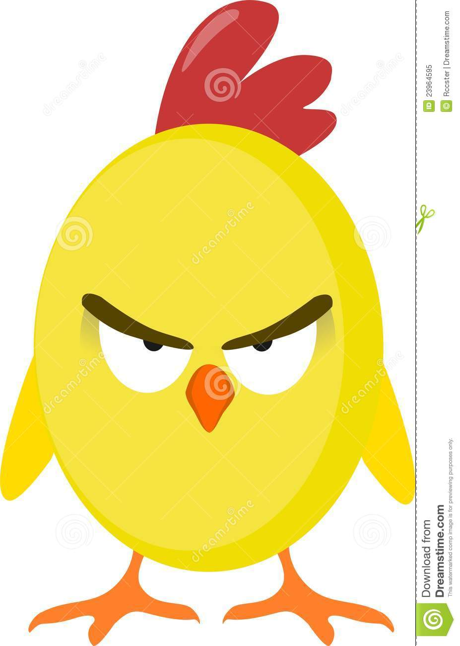Angry Chicken Royalty Free Stock Photo - Image: 23964595