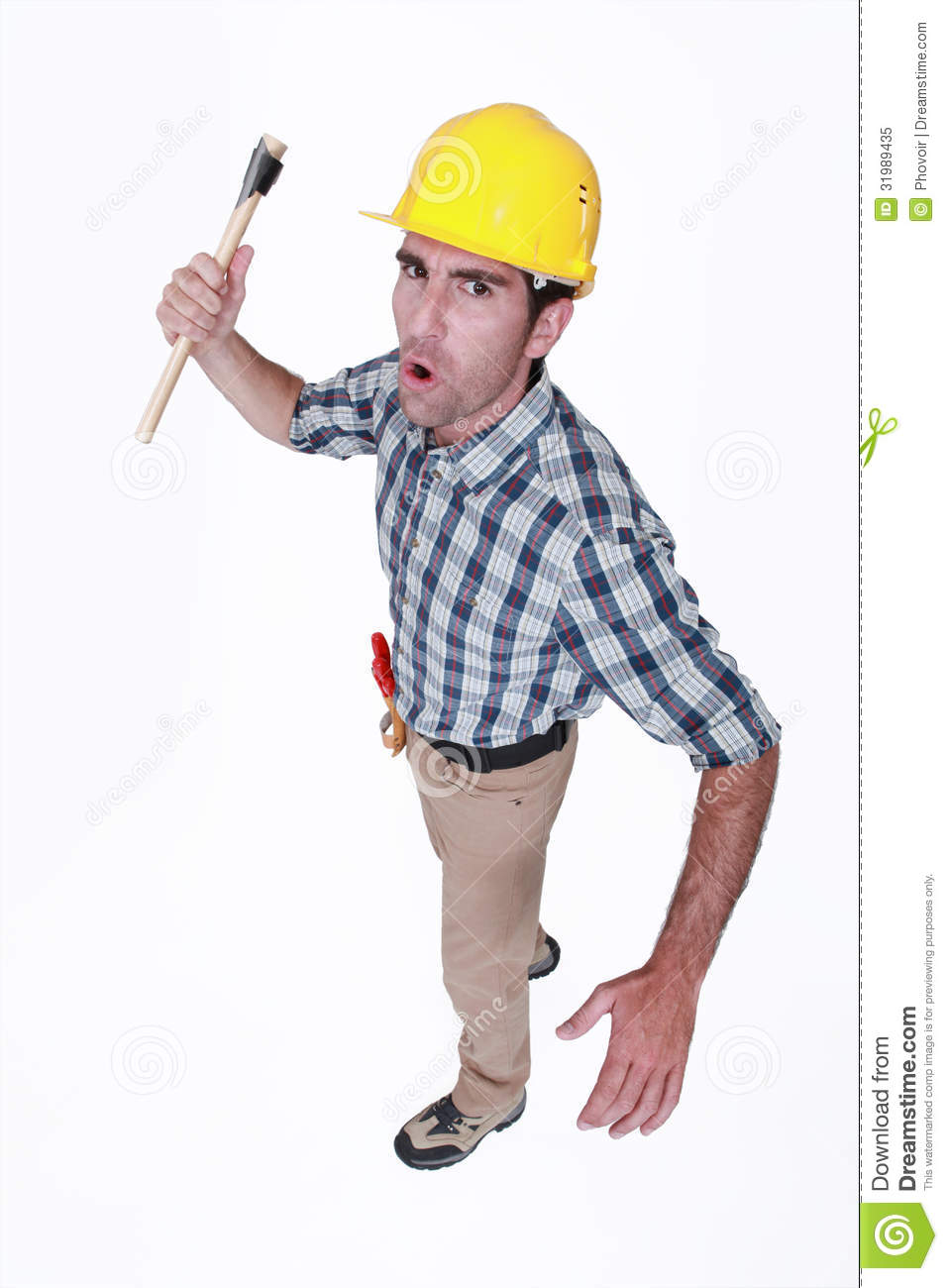 Angry Construction Worker Royalty Free Stock Photo - Image ...