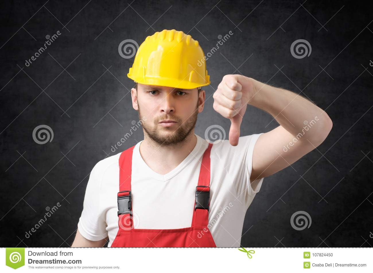 Angry construction worker stock photo. Image of ...