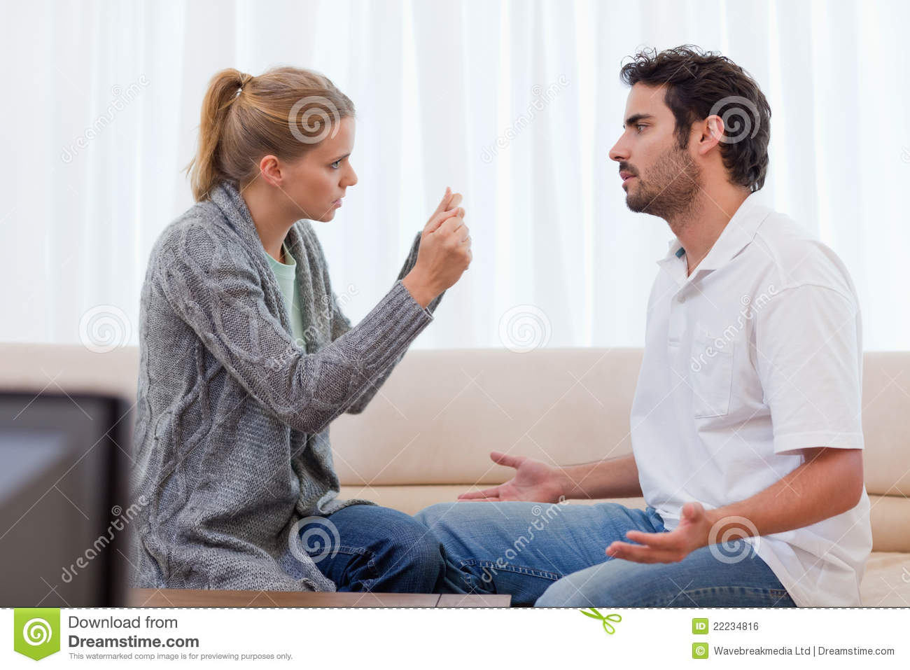 Angry Couple Arguing Royalty Free Stock Image Image