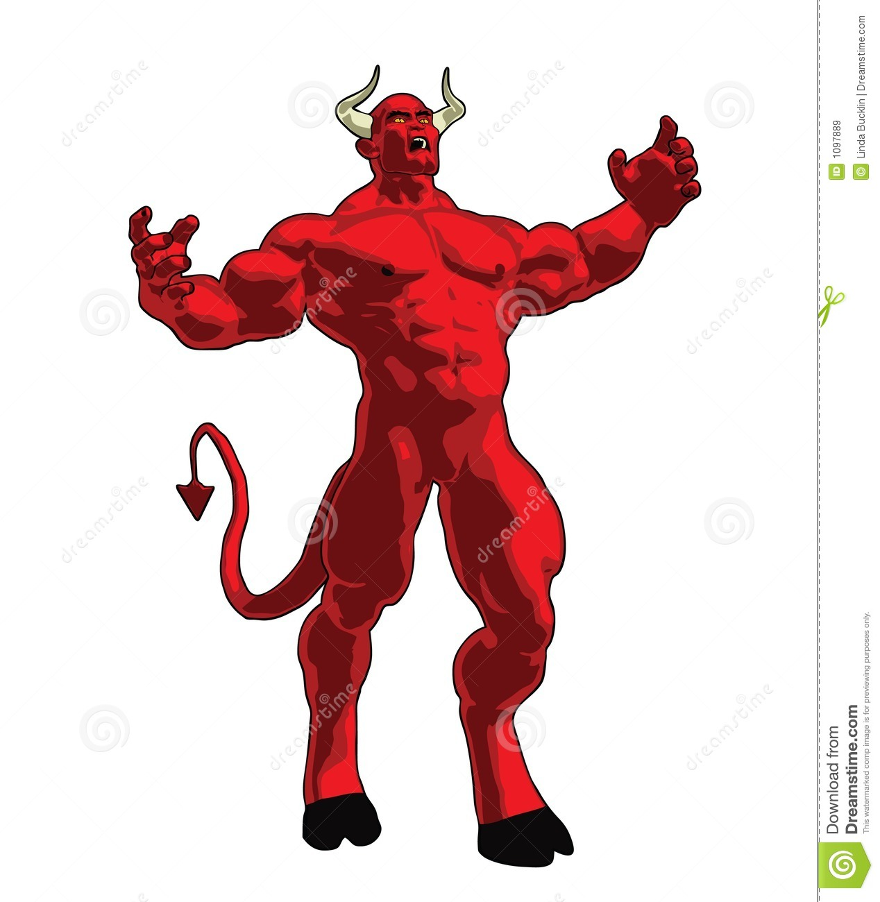 Angry Devil Royalty Free Stock Images - Image: 1097889