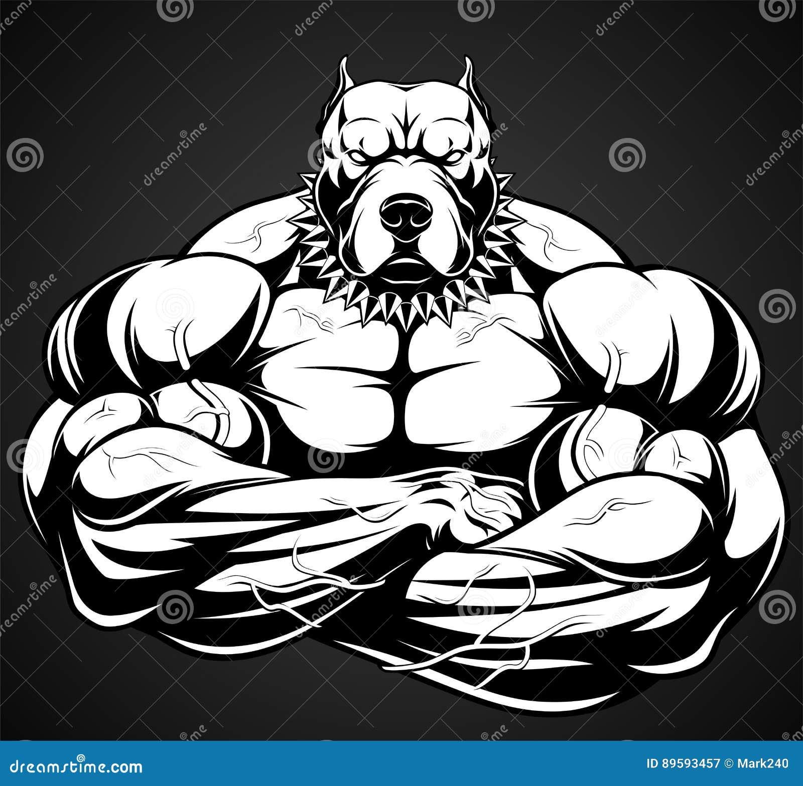 Strong Pitbull Bodybui...