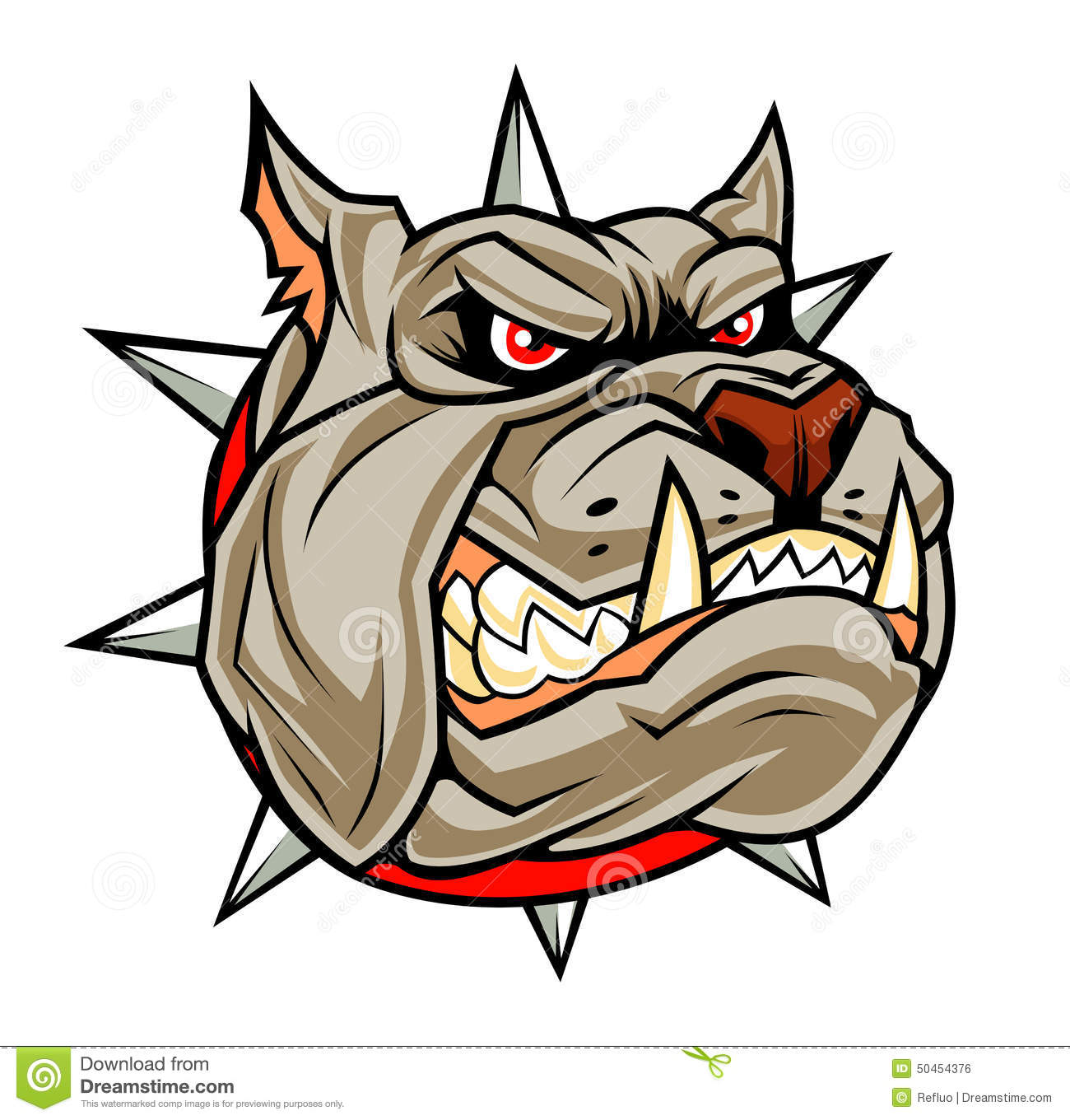 Angry Dog Head Stock Vector Image 50454376