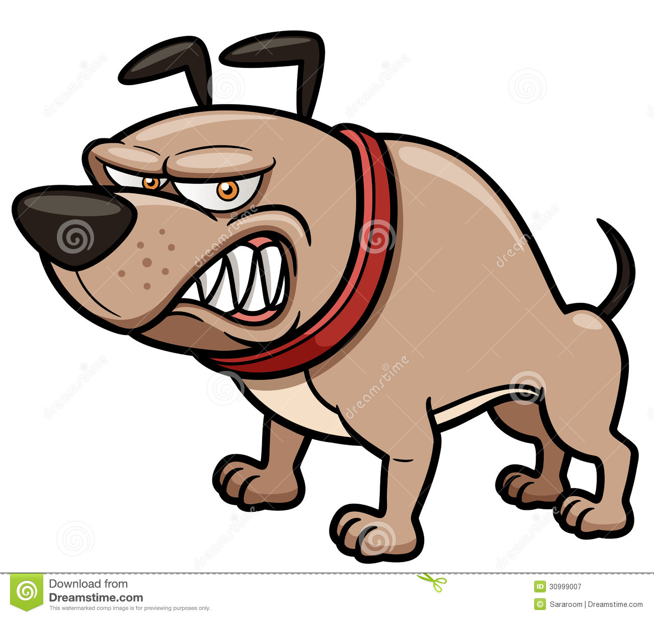 Angry Dog stock vector. Illustration of isolated, doggy ... Angry Dog Drawing